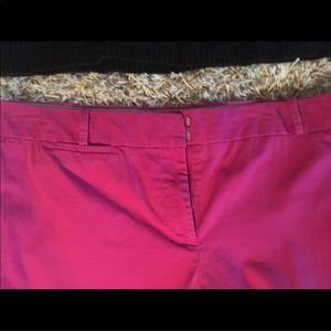 Cute Cropped Talbots Hot Pink Pants
